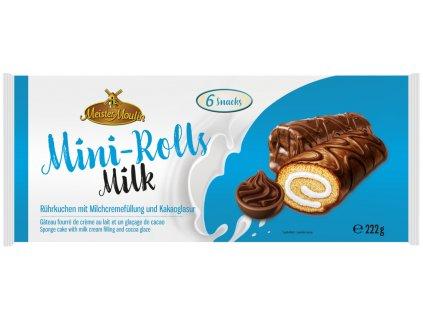 Meister Mini-roládky s mléčným krémem a kakaovou polevou 222g