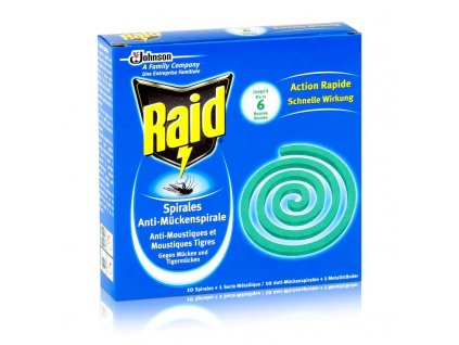 Raid insekticidní spirála proti komárům 1 ks