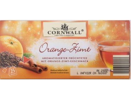 Cornwall zimní čaj s příchutí pomeranče a skořice 25 ks 68 g