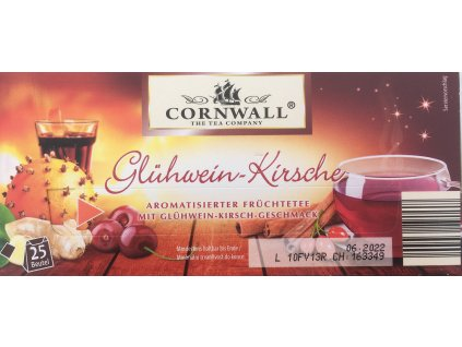 Cornwall zimní čaj s příchutí svařeného vína a třešní 25 ks 68 g