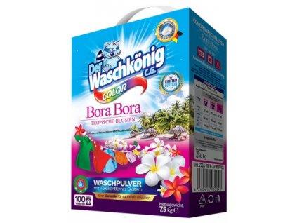 Waschkönig Color prací prášek na barevné prádlo 7,5 kg Bora Bora 100 dávek