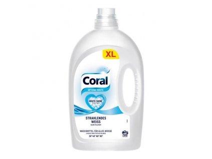 Coral Optimal White Prací gel na bílé prádlo 2,5 l, 50 dávek