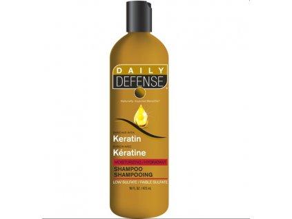 DAILY DEFENSE hydratační šampon s keratinem 473 ml