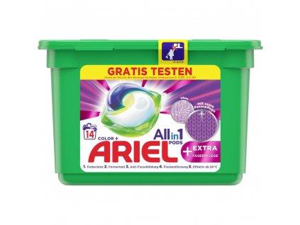 Ariel All-in-1 Color gelové kapsle na barevné prádlo 14 ks
