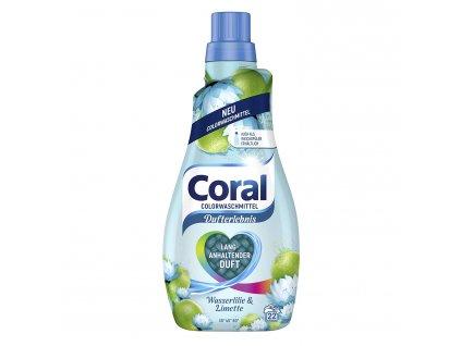 Coral prací gel s vůní vodní lilie a limetky 22 dávek