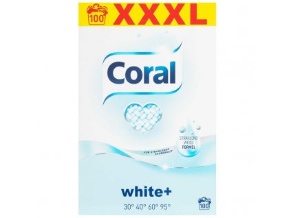 Coral 100 pracích dávek White+ 7 kg
