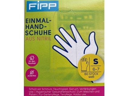 Fipp Jednorázové rukavice - nitrilové, velikost S, 60ks