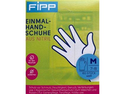 Fipp Jednorázové rukavice - nitrilové, velikost M, 60ks