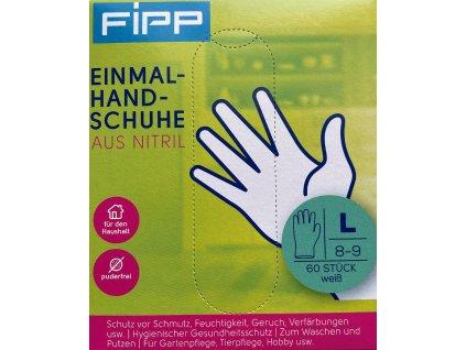 Fipp Jednorázové rukavice - nitrilové, velikost L, 60ks
