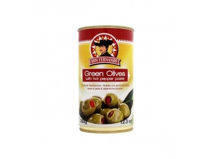 Gruene Oliven gefuellt mit pikanter Paprikacreme 350g Bild 1 Zoombild