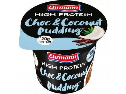 Ehrmann Pudink s vysokým obsahem bílkovin, čokoláda a kokos 200g