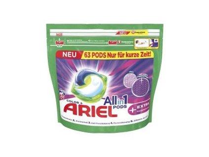 Ariel All-in-1 Color gelové kapsle na barevné prádlo 63 ks, 1.581kg