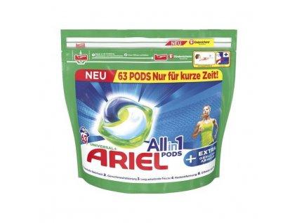 Ariel All-in-1 Universal gelové kapsle na prádlo 63 ks, 1.587kg