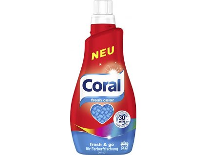 Coral Color Fresh prací gel na barevné prádlo 1,1l 22 PD