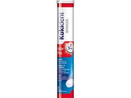 Kukident čistící tablety a zubní protézy AktivPlus, 33 ks