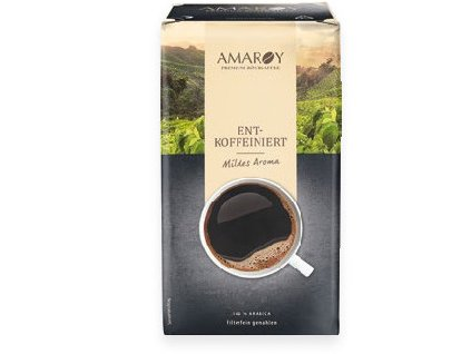Amaroy Premium mletá káva bez kofeinu 500g