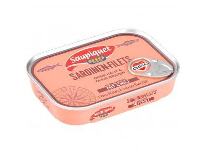 Saupiquet Filety ze sardinek v olivovém oleji s chilli 105g