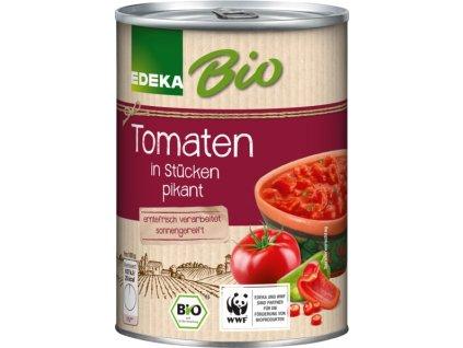 Edeka BIO rajčata, na kousky, pikantní 400g