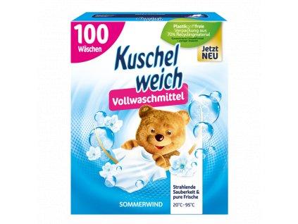 Kuschelweich univerzální prací prášek s vůní letního vánku 100 dávek, 5,5 kg