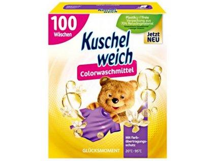 Kuschelweich prací prášek na barevné prádlo Štastný monent 100 dávek, 5,5 kg