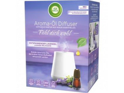 Air Wick Fühl dich wohl Aroma olejový difúzer Relaxační levandule Starter-Set 1 ks