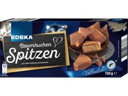 Edeka Baumkuchenspitzen v mléčné čokoládě 130g
