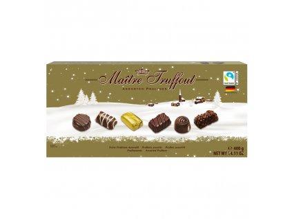 """Maitre Truffout čokoládový mix pralinek """"Vánoční edice"""" 400g"""