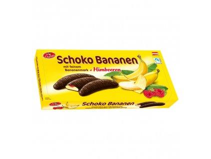 Sir Charles Banánky s malinami obalované v hořké čokoládě 300g