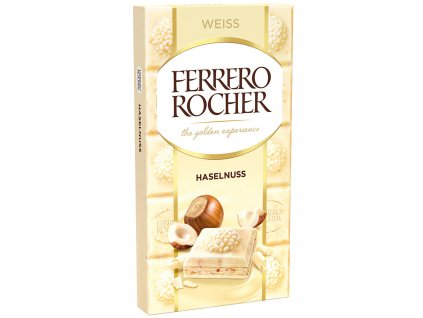 Ferrero Rocher bílá čokoláda s lískovými oříšky 90g