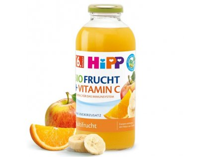 HIPP BIO multi ovocná šťáva s vitamínem C 0,5l