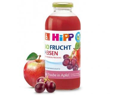 HIPP BIO Červené hrozny v jablku se železem 0,5l