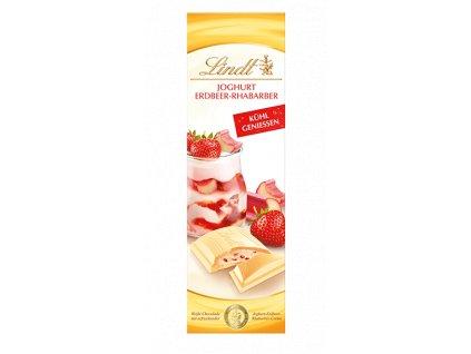 Lindt bílá čokoláda s jogurtem, malinami a vanilkou 100 g