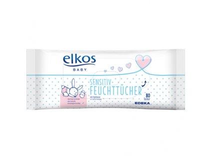 Elkos Vlhčené ubrousky pro děti s citlivou pokožkou 80ks
