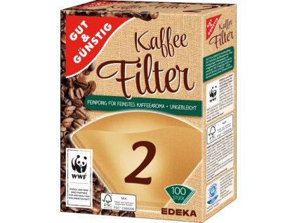 G&G Filtry do kávovarů velikost 2, 100ks  - originál z Německa