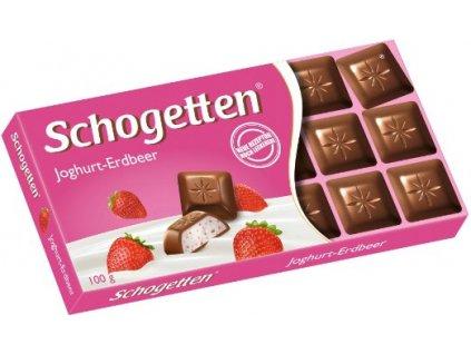 Schogetten Jogurt-Jahoda čokoláda 100g  - originál z Německa