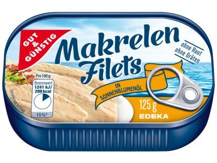 G&G Filety z makrel v slunečnicovém oleji 125g  - originál z Německa