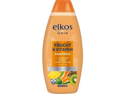Elkos Frucht&Vitamin šampon s výtažkem meruňky a provitaminu B5 500ml