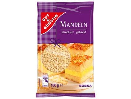 G&G Mandle - nasekaná, blanžírovaná 100g  - originál z Německa