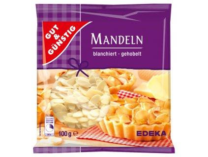 G&G Mandle - nakrájená, blanžírovaná 100g  - originál z Německa