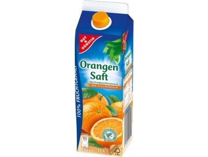 G&G Pomerančový džus s dužinou 100%, 1l