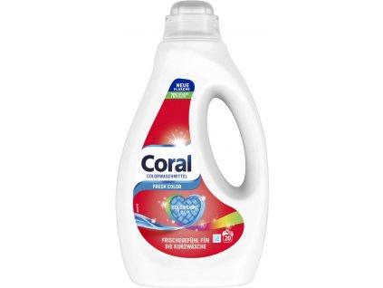 Coral Color Fresh prací gel na barevné prádlo 1l 20PD
