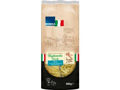 EDEKA Italia Tagliatelle Verdi špenátové těstoviny 500g