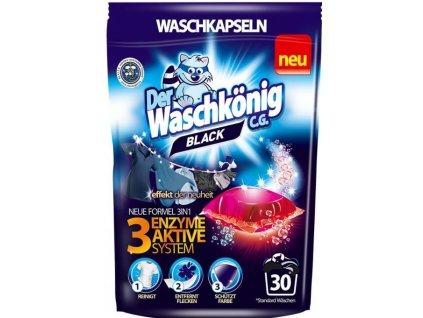 Waschkönig Black kapsle na praní 30 ks