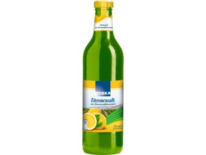Edeka 100% citrónová šťáva 750 ml
