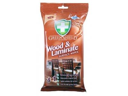 Green Shield Wood & Laminate vlhčené ubrousky na dřevo a lamináty 50 ks