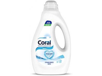Coral White Prací gel na bílé prádlo 1 l, 20 dávek