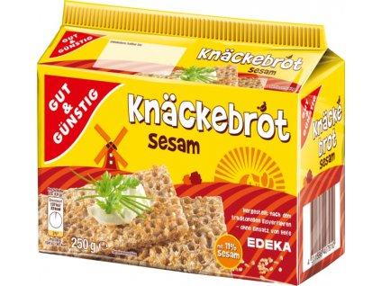 G&G Knäckebrot celozrnný žitný se sezamem 250g