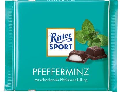Ritter Sport Pfefferminz peprmintová čokoláda 100 g  - originál z Německa