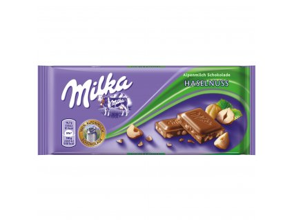 Milka čokoláda s drcenými jádry lískových ořechů 100g  - originál z Německa