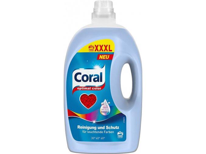 Coral Optimal Color prací gel 5l, 100 pracích dávek